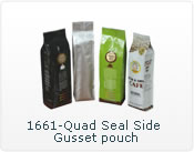 quad seal side gusset pouch
